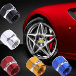 VODOOL 4Pcs Aluminum Car Vehicle Wheel Tire Valve Stem Caps Dust Covers Auto Motorcycle Airtight Stem Bicycle Air Caps Styling