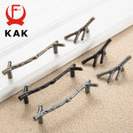 KAK Fashion Tree Branch Furniture Handle 96mm 128mm Black Silver Bronze Kitchen Cabinet Handles Drawer Knobs Door Pulls Hardware