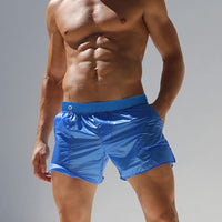 Fashion Sexy Men Shorts Transparent Boxers Men Shorts Beach BoardShorts Elastic Waist See Through Trunks Bottom Clothing Male