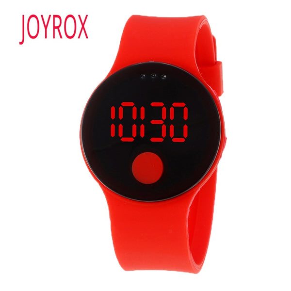JOYROX Child Watch Fashion Waterproof LED Watches For Girls Boys Ultra-thin Design Silicone Strap Children Watches Kids Clock