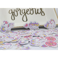 50 pcs Memo Pads Unicorn Kawaii Stickers Diary Planner Journal Sticky Notes Notepad Diary Paper Scrapbooking Albums Photo Tag