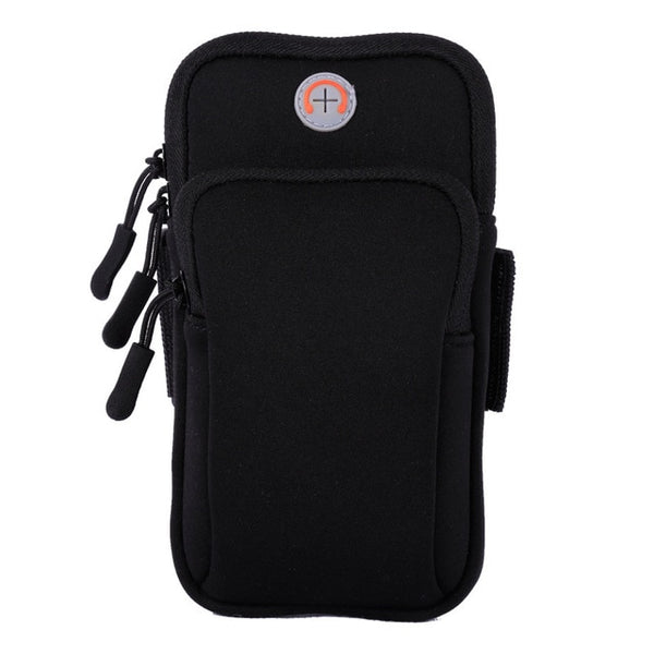 Sport Armband Case Zippered Fitness Running Arm Band Bag Pouch Jogging Workout Cover For Mobile 7Plus Smart Phone Bag(4-6inches)