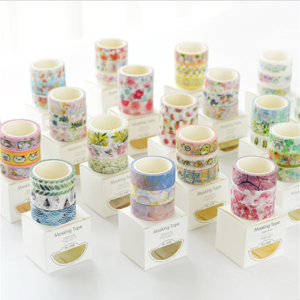 3Pcs/Box 1.5-3cm*5m Fresh Pattern Floral washi tape diy decoration for scrapbooking masking tape adhesive tape