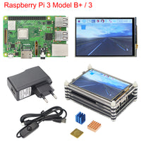 Raspberry Pi 3 B+ Plus Starter Kit Raspberry Pi 3 + 3.5 inch Touchscreen + 9-layer Acrylic Case + 2.5A Power Supply + Heat Sink