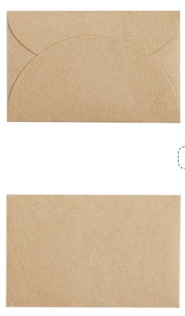 50pcs/set Vintage Love small Brown Pink  Kraft  blank mini paper envelopes wedding invitation envelope /gilt envelope/2 color
