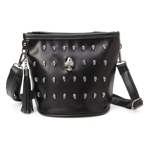 New 2018 Fashion Women Skull Punk Goth Tassel Messenger Shoulder Bag Crossbody Handbag