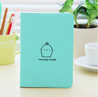 2018 Cute Kawaii Notebook Cartoon Cute Lovely Journal  Diary Planner Notepad for Kids Gift Korean Stationery Three Covers