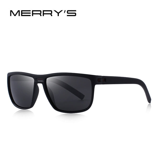 MERRY'S DESIGN Men Rectangle Polarized Sunglasses For Driving Outdoor Sports Ultra-light Series UV400 Protection S'8168