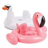 2017 Hot Baby Inflatable Flamingo Swimming Ring Seat float Swimming Float Swan Pool Float Baby Summer Water Fun Pool Toy Kids