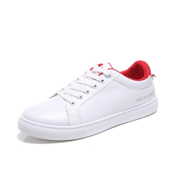 Citycross - Promotional Popular Men White Sneaker Fashion Ankle Shoes Boy Casual Light Lace up Footwear