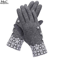 Outdoor Women Warm Fleece Touch Screen Gloves
