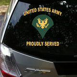 Aliauto Car-styling United States Army Proudly Served Car Sticker &decal Accessories for Volkswagen Golf Polo Audi A3 Ford Focus