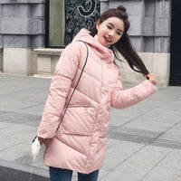New parka women 2018 Winter Jacket Women Coats Hooded Ladies Coats Female Parka Thick Cotton Padded Lining Winter Female Coats