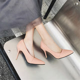 Big Size Women's Shoe 9cm High Heels AF1 Summer Good PU Pumps Party Shoes For Women Wedding Shoes