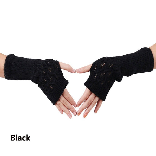 1 Pair Hot Sale Fashion Popular Women Ladies Winter Warm Gloves  Fingerless Gloves Gloves Knitted Half Finger Gloves