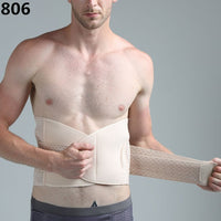 Breathable Summer Men's Waist Body Shaper Slimming Belt Belly Waist Trimmer Tummy Cincher Corset Fat Burner Waist Shaper