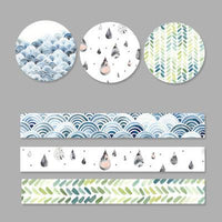 3 Rolls Washi Masking Tape Set Petal Animal Flower Paper Masking Tapes Japanese Washi Tape DIY Scrapbooking Sticker, 15mm x 5m