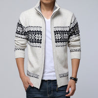 New Arrives Autumn Winter Men's Cardigan Coat Mandarin Collar Casual Clothes For Men Zipper Sweater Male Warm Knitwear Sweaters