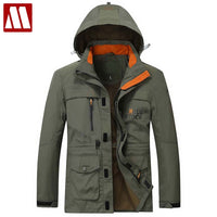Hooded Windbreaker Three Colors Large Size Polyester Thin winter jacket Men parka Spring Casual Warm Coat 17MC853 Men's Coats