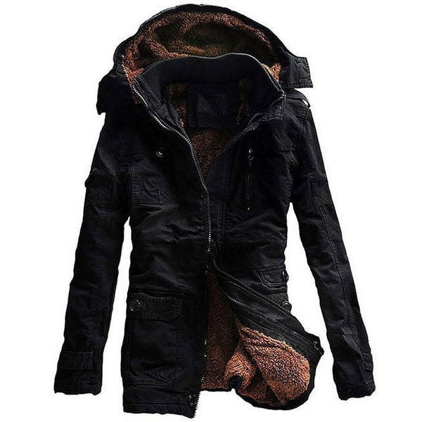 2018 New Fashion Men's Fleece Faux Fur Winter Coat Hoodies Parka Overcoat Big size Cotton Jacket lowest price Free shipping 5XL
