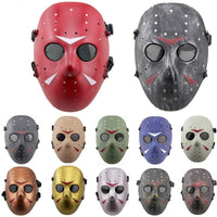 DC18 Jason Hockey Full Face Metal Lens Paintbal CS Wargame Airsoft Mask Halloween Party Soft Air Mask