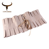 COWATHER women belt fashion belts for women vintage decorated female strap newest arrival cummerbunds wide design waist belt