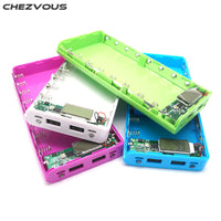 CHEZVOUS Power Bank Diy Box LCD Display 8X 18650 Dual USB Power Bank Shell Portable External Charger Case Without Battery