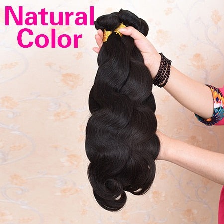 "Ali Coco Brazilian Body Wave Hair Extensions ""8-30"" inch 100% Human Hair Weave Bundles 1/3/4 PCS Natural Color Non Remy Hair"