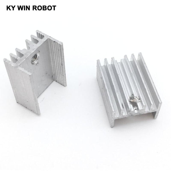 10pcs Free Shipping Aluminium TO-220 Heatsink TO 220 Heat Sink Transistor Radiator TO220 Cooler Cooling 20*15*10MM