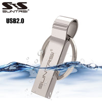 Suntrsi Metal USB Flash Drive 32gb for computer Pendrive 64gb 16gb usb stick Metal Key Chain Pen Drive 8gb High Speed Waterproof