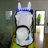 Equestrians Horse Head Straps LED for Horse Riding Horses Night Flash Belt Equitation Harness with Replacable CR2032 Battery