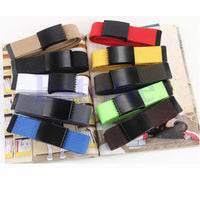 1PC Fashion Unisex Plain Webbing Mens Boys Waist Belt Waistband Casual Canvas Belt