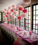 10pcs cute babyshower decoration 15cm 6 inch Tissue Paper Flowers paper pom poms balls lanterns Party Decor Craft Wedding