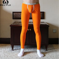 2018 Cotton 3D print Men Long Johns men underpant autumn winter men's trousers warm underpants slim sleep bottoms male underwear