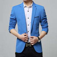 new 2018 pure color suits the spring and autumn period and the young men's suit cultivate one's morality leisure fashion