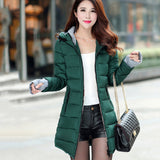 Drop Shipping 4XL Plus Size Wadded Clothing Female 2018 New Women's Winter Jacket Cotton Jacket Slim Hooded Parkas Ladies Coats