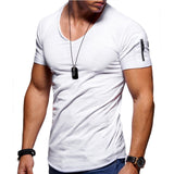 Moomphya Zipper sleeve slim fit men tshirt Raw edge t shirt men camisetas hombre hip hop steetwear tops tee shirt homme t-shirt