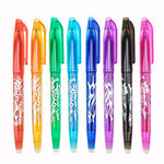1Pc New 0.5mm Erasable Pen 1 pcs Refills Colorful 8 Color Creative Drawing Tools Student Writing Tools Office Stationery