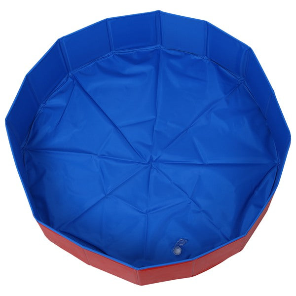 Foldable Pet Dog Swimming House Bed Summer Pool Blue+Red for VIP link
