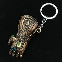 Avengers Infinity War Thanos Cosplay Costumes Infinity Gauntlet Gloves Armor Model Key Chain Keychain