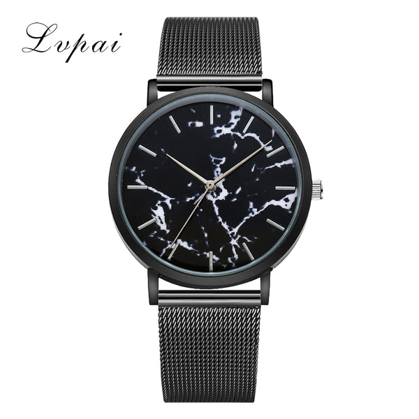 Lvpai Purchasing Ladies Fashion Mesh Leather Bracelet Strap Watch Sport Wrist Watches For Women Quartz Watch Drop Shipping