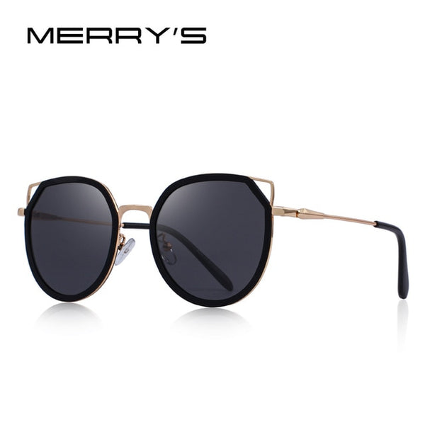 MERRY'S DESIGN Women Fashion Cat Eye Polarized Sunglasses Gradient Lens Metal Temple 100% UV Protection S'6176