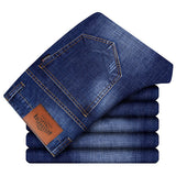 Free Shipping Men Cotton Business Casual Jeans 2018 Mew Men's Straight Long Pants Spring And Autumn Men Jeans D90