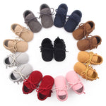 Baby Boys Girls Moccasins Moccs Shoes First Walkers Bebe Fringe Soft Soled Non-slip Footwear PU Leather Crib Shoes