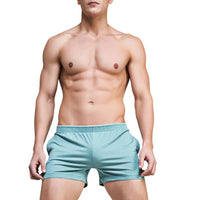 Men's Home Clothing Casual Shorts Solid Color Pockets Slim Fitness Workouts Muscle Bodybuilding Bermuda Elastic Waist Summer