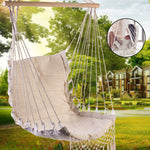 Nordic Style Deluxe Hammock Outdoor Indoor Garden Dormitory Bedroom Hanging Chair For Child Adult Swinging Single Safety Chair