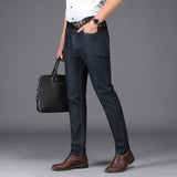 Black Blue Casual Male Denim Pants Men Thin Classic Business Straight Long Jeans 2018 Spring Summer Mens Jeans Cotton Stretch