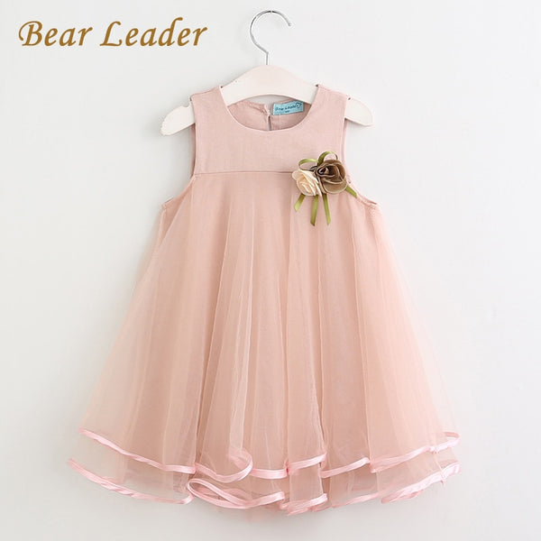 Bear Leader Girls Dress 2018 Brand Princess Dress Sleeveless Appliques Floral Design for Girls Clothes Party Dress 3-7Y Clothes