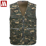 2018 Men's Multi-functional pocket Camouflage Vest Men Sleeveless Casual Cotton Jackets Male Camo Waistcoat Brand Clothing