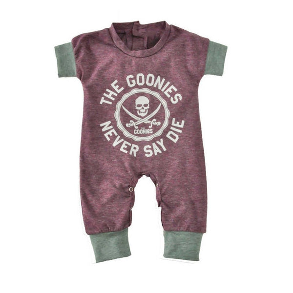 2018 Newborn Baby Jumpsuits Summer Cartoon Skull Boys Girls Romper For Infant One-piece New Short Sleeve Letter Kids Baby Romper
